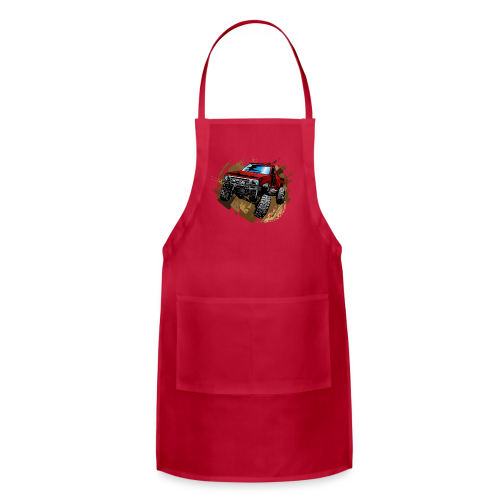 Red Rock Crawling Off-Road Truck Shirt - Adjustable Apron