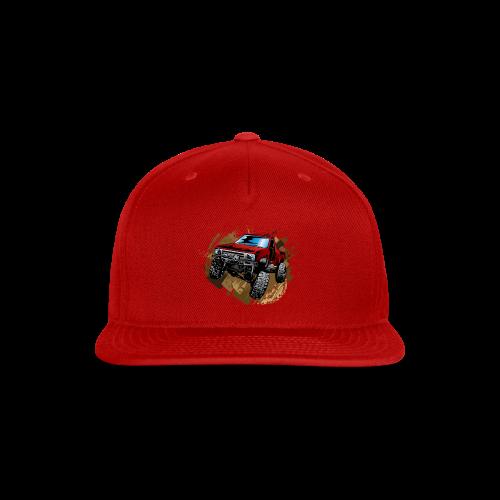 Red Rock Crawling Off-Road Truck Shirt - Snap-back Baseball Cap