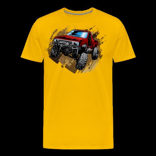 Red Rock Crawling Off-Road Truck Shirt - Men's Premium T-Shirt