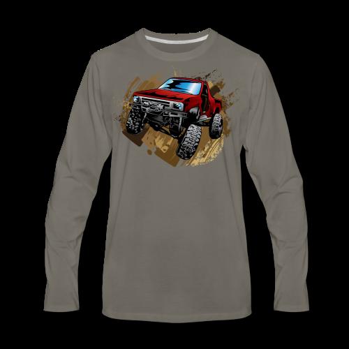 Red Rock Crawling Off-Road Truck Shirt - Men's Premium Long Sleeve T-Shirt