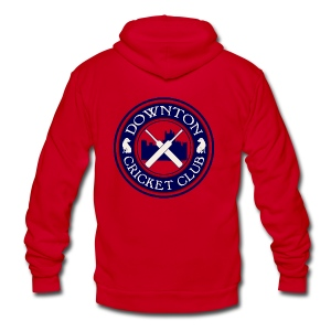 Downton Cricket Club - Unisex Fleece Zip Hoodie by American Apparel