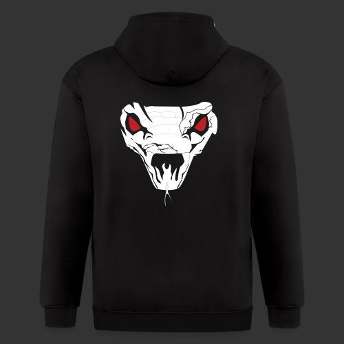 Woman's Hooded Sweatshirt Snake Skull (Digital Print) - Men's Zip Hoodie