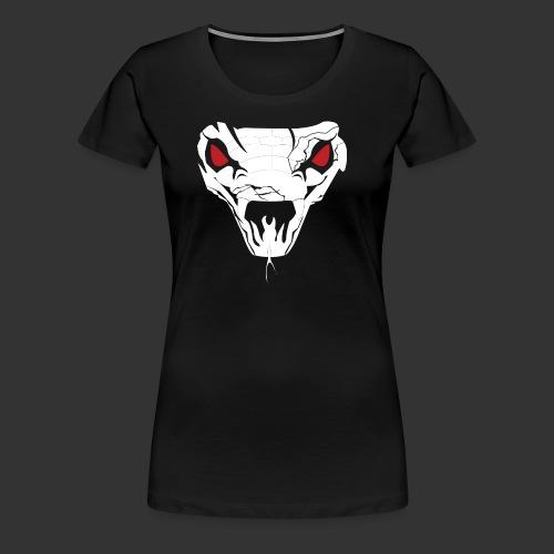 Woman's Hooded Sweatshirt Snake Skull (Digital Print) - Women's Premium T-Shirt