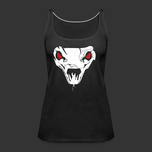 Woman's Hooded Sweatshirt Snake Skull (Digital Print) - Women's Premium Tank Top