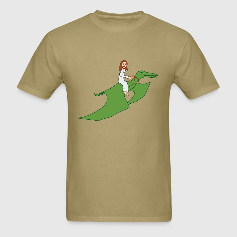 Jesus on a Pterodactyl T-Shirts - Men's T-Shirt