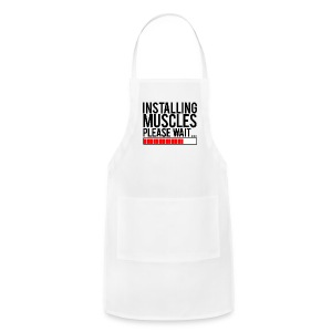 Installing muscles please wait | Womens tee - Adjustable Apron