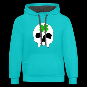 Contrast Hoodie - Irish Skull Shirt - www.TedsThreads.co