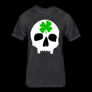 Fitted Cotton/Poly T-Shirt by Next Level - Irish Skull Shirt - www.TedsThreads.co