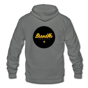 BrandNuThreads - Button - Unisex Fleece Zip Hoodie by American Apparel