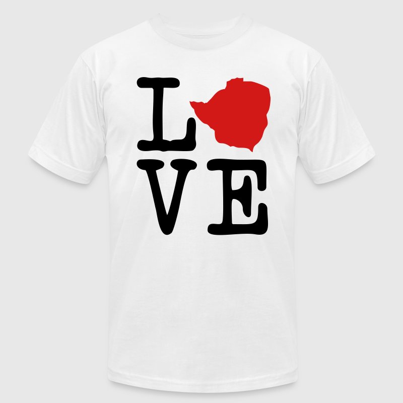 I Love Zimbabwe T-Shirts - Men's T-Shirt by American Apparel