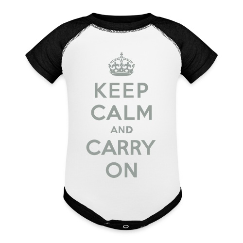 Keep Calm and Carry On - Contrast Baby Bodysuit