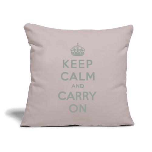 """Keep Calm and Carry On - Throw Pillow Cover 18"""" x 18"""""""