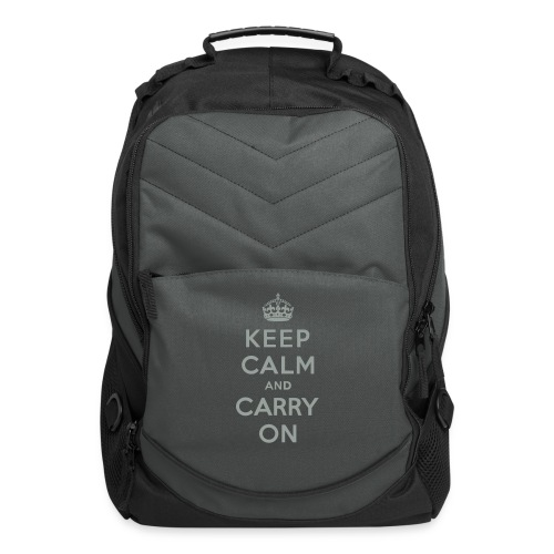 Keep Calm and Carry On - Computer Backpack