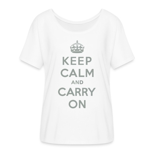 Keep Calm and Carry On - Women's Flowy T-Shirt