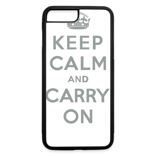 Keep Calm and Carry On - iPhone 7 Plus/8 Plus Rubber Case