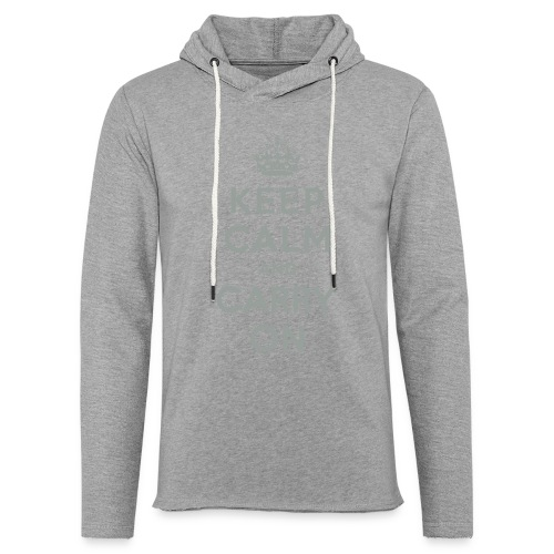 Keep Calm and Carry On - Unisex Lightweight Terry Hoodie