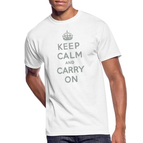 Keep Calm and Carry On - Men's 50/50 T-Shirt