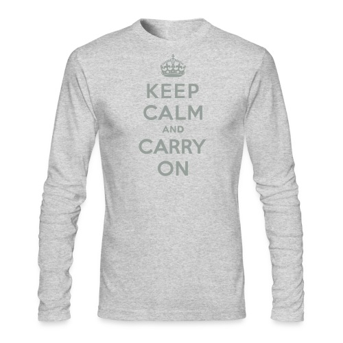 Keep Calm and Carry On - Men's Long Sleeve T-Shirt by Next Level