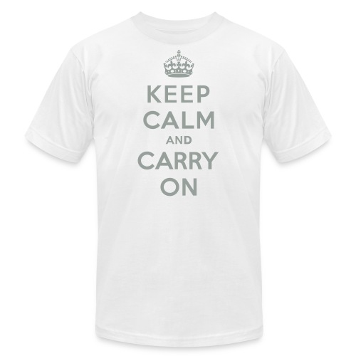 Keep Calm and Carry On - Men's Jersey T-Shirt