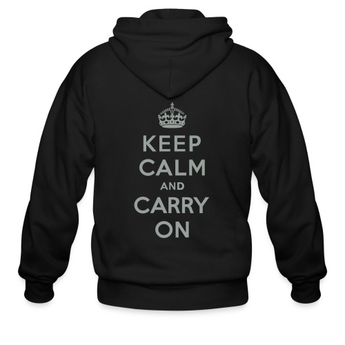 Keep Calm and Carry On - Men's Zip Hoodie