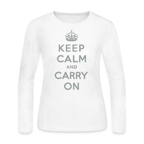 Keep Calm and Carry On - Women's Long Sleeve Jersey T-Shirt