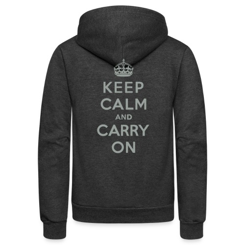 Keep Calm and Carry On - Unisex Fleece Zip Hoodie