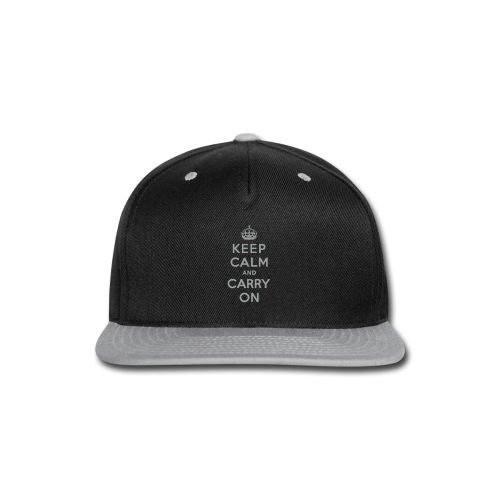 Keep Calm and Carry On - Snap-back Baseball Cap