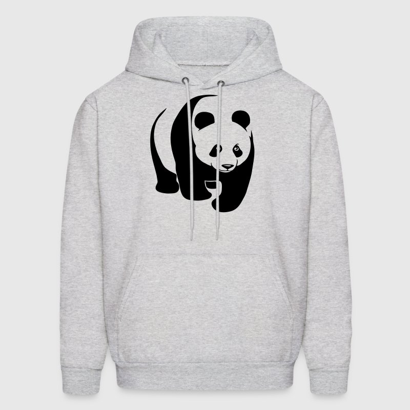 panda teddy bear face cute animal save Hoodies - Men's Hoodie