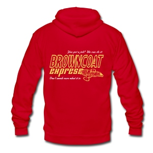 Browncoat Express - Unisex Fleece Zip Hoodie by American Apparel