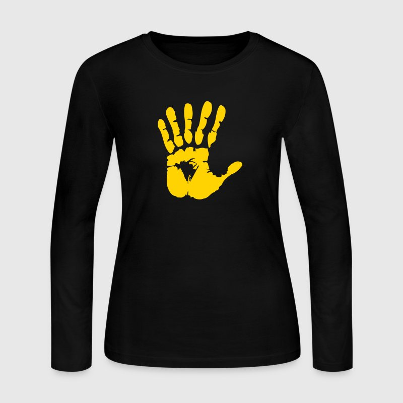 hand with six fingers Long Sleeve Shirts - Women's Long Sleeve Jersey T-Shirt