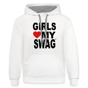 GIRLS LOVE MY SWAG Women's T-Shirts - Contrast Hoodie