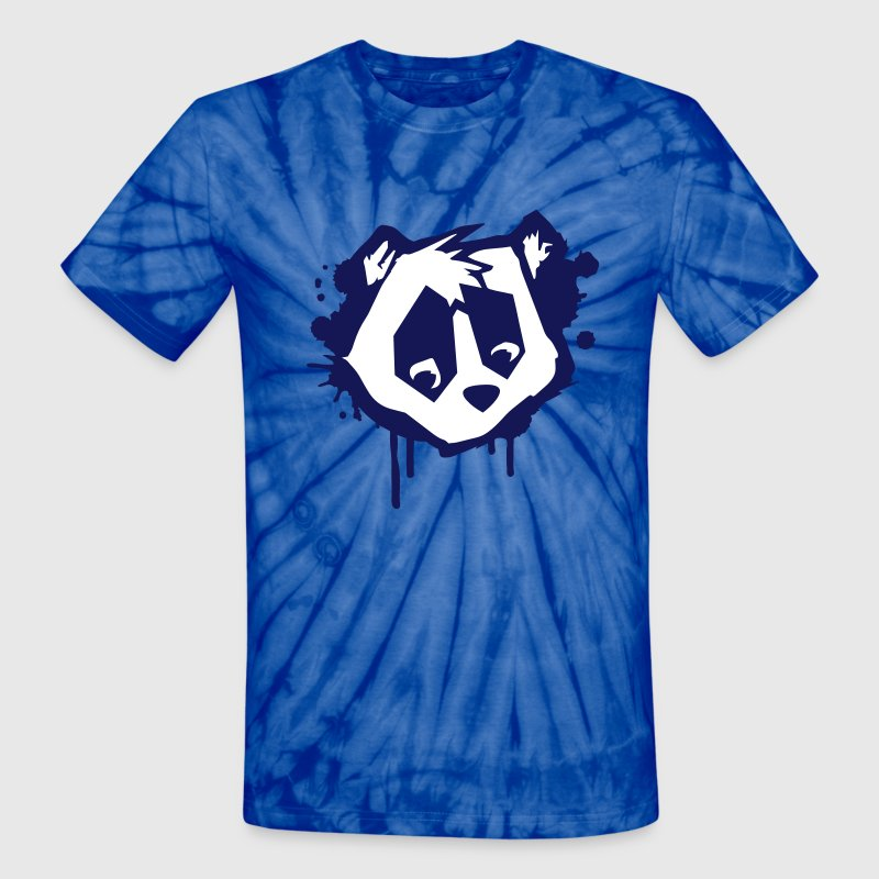 Bear Head in Graffiti Style T-Shirts - Unisex Tie Dye T-Shirt