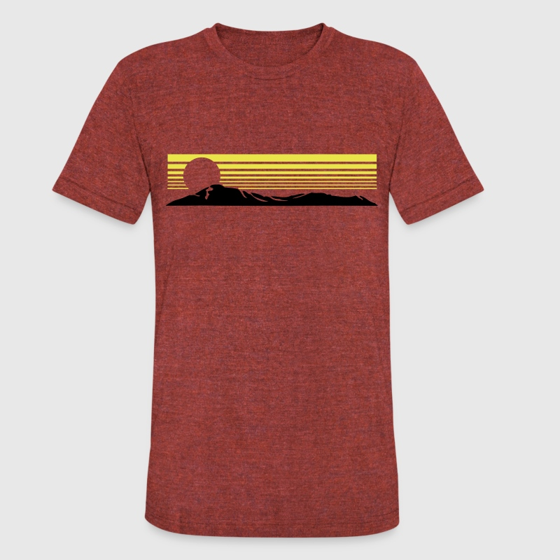sunset hills T-Shirts - Unisex Tri-Blend T-Shirt by American Apparel