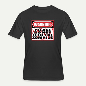 Don't Feed The Zombies - Men's 50/50 T-Shirt