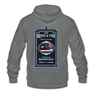 The Rose & Ten - Unisex Fleece Zip Hoodie by American Apparel