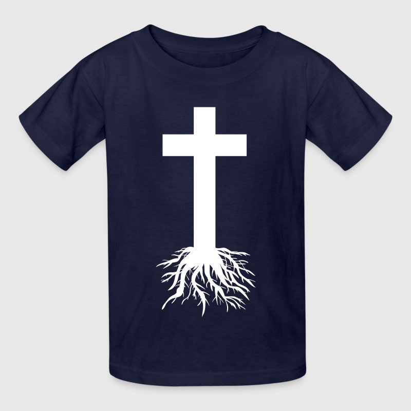 Cross with Roots Kids' Shirts - Kids' T-Shirt