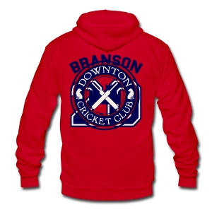 Downton Cricket Club (Branson) - Unisex Fleece Zip Hoodie by American Apparel