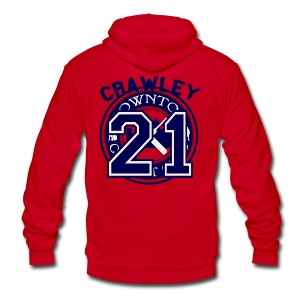 Downton Cricket Club (Crawley) - Unisex Fleece Zip Hoodie by American Apparel