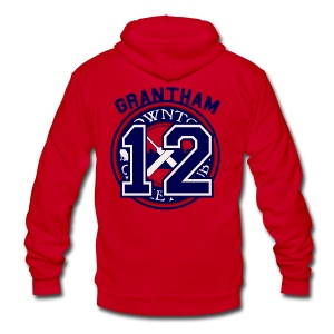 Downton Cricket Club (Grantham) - Unisex Fleece Zip Hoodie by American Apparel