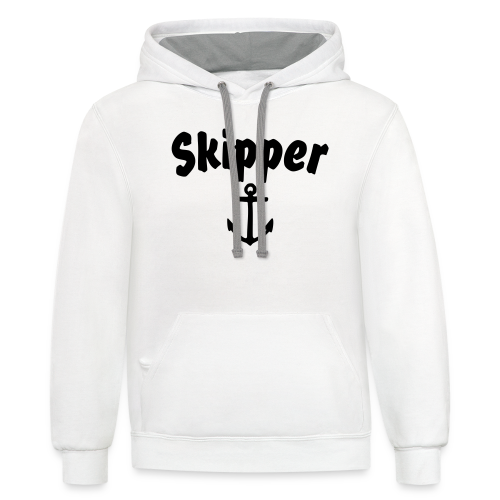 Skipper T-Shirt (White/Front) Men - Contrast Hoodie