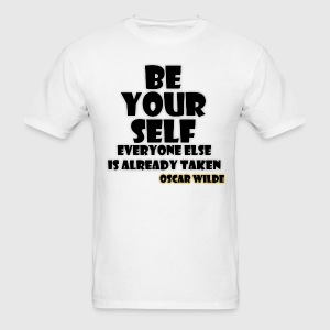Quote - Be Yourself Hoodies - Men's T-Shirt