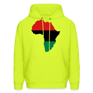 Red, Black & Green Africa Flag T-Shirts - Men's Hoodie