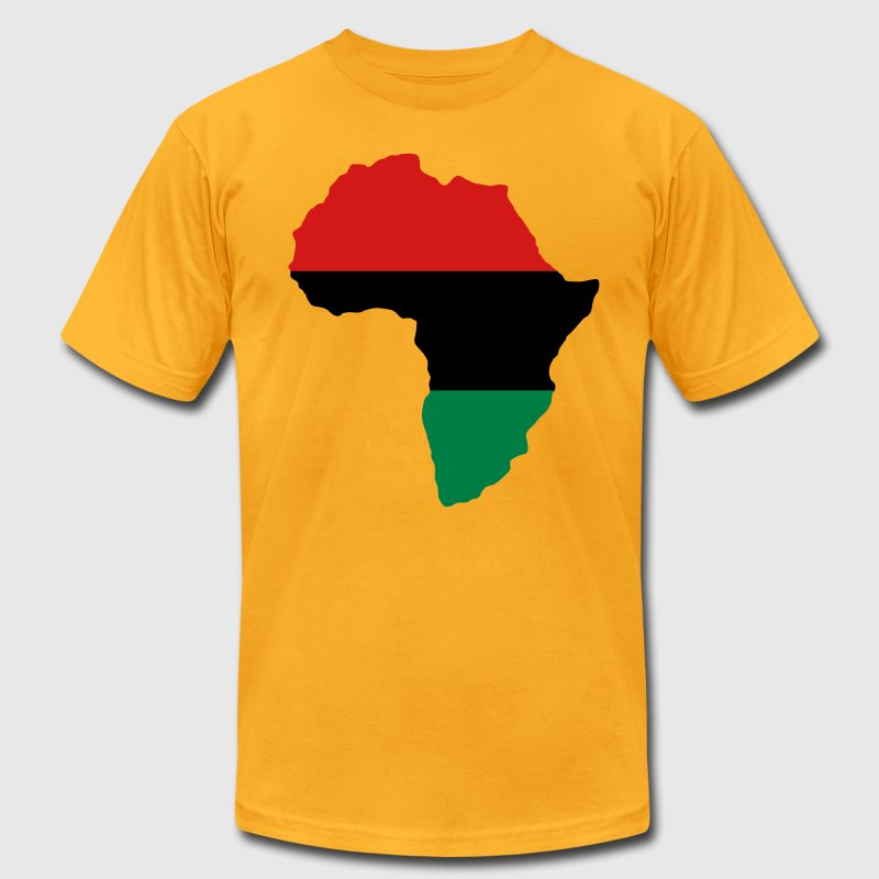 Red, Black & Green Africa Flag T-Shirts - Men's T-Shirt by American Apparel