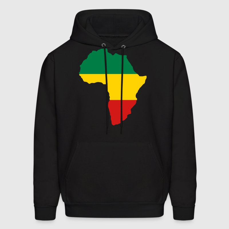 Green, Gold & Red Africa Flag Hoodies - Men's Hoodie