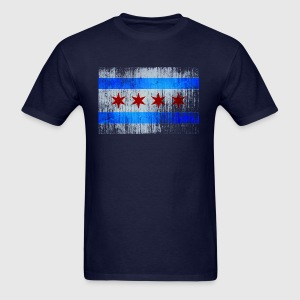 Chicago Flag Faded Chicago Hoody Hoodies - Men's T-Shirt