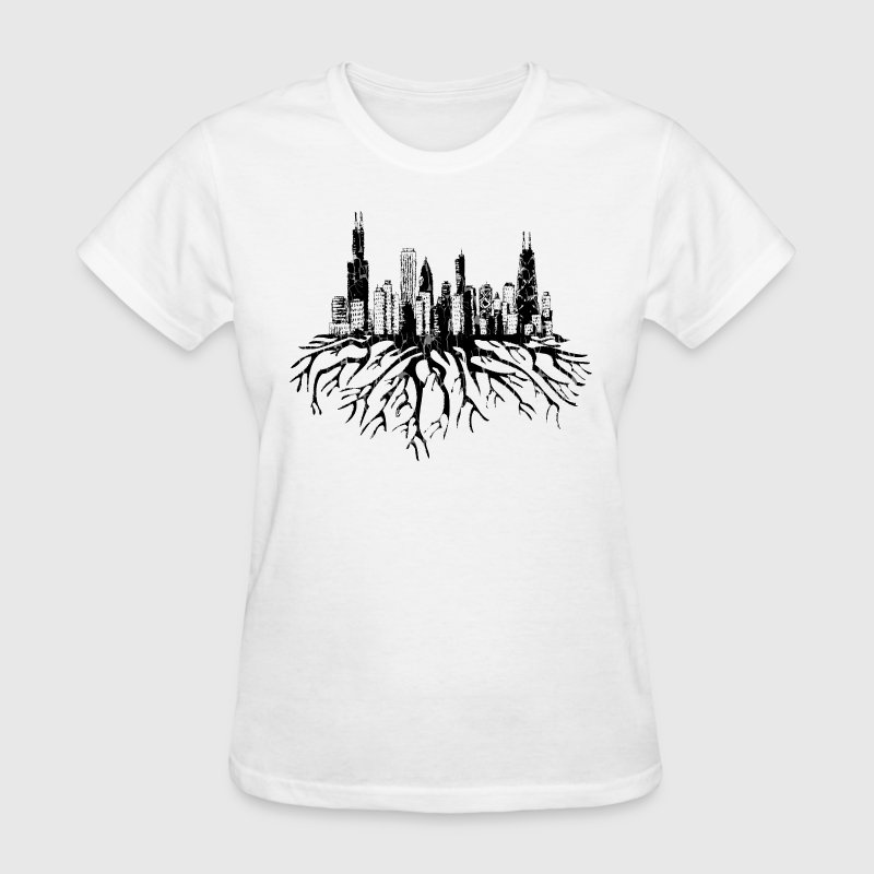 New Chicago Skyline Roots Chicago Hoody  Women's T-Shirts - Women's T-Shirt