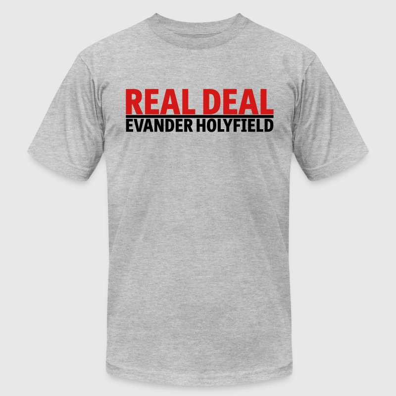 Real Deal Evander Holyfield mp T-Shirts - Men's T-Shirt by American Apparel