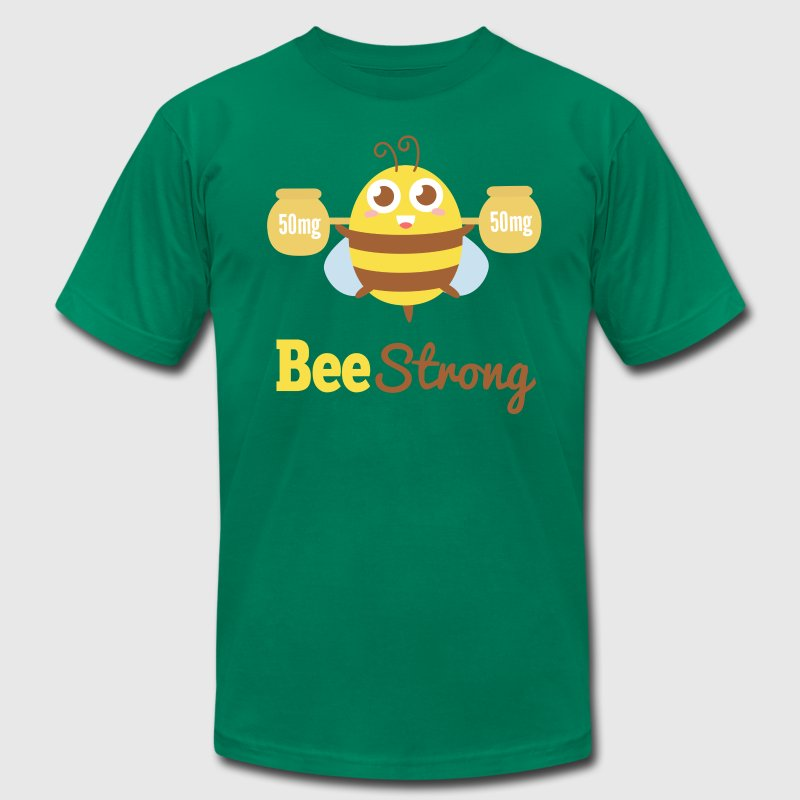 Motivational cartoon to bee strong T-Shirts - Men's T-Shirt by American Apparel