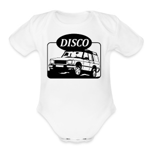 Land Rover Discovery illustration - Short Sleeve Baby Bodysuit
