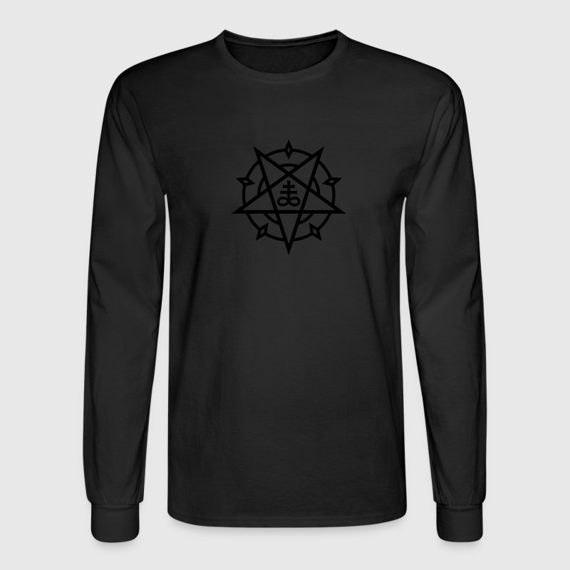 Pentagram + Satan's Cross No.1_1c Long Sleeve Shirts - Men's Long Sleeve T-Shirt